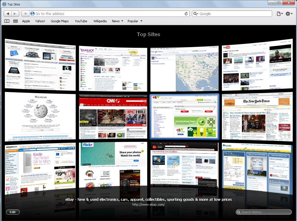 how to make a web page your homepage on safari